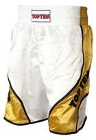 "Boxing shorts TOP TEN ""Shiny"" White/Gold"