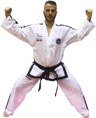 "Taekwondo Dobok TOP TEN ITF ""DIAMOND MASTER"" >= 4 Dan ITF ITALIA"