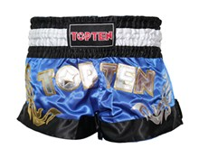 Kickboxing Thai Shorts TOP TEN NEON Blue