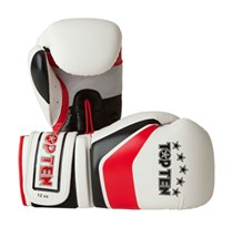 "Kickboxing Women Gloves TOP TEN ""Perfect"" White 10oz"