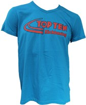 "T-Shirt TOPTEN Collo a V ""Kickboxing"" Turchese"