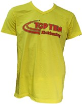 "T-Shirt TOPTEN V-Neck ""Kickboxing"" Yellow"