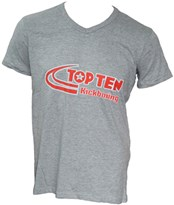 "T-Shirt TOPTEN V-Neck ""Kickboxing"" Grey"