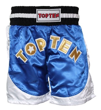 Kickboxing Shorts TOP TEN Kick Light NEON Blue