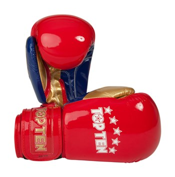 """Boxing Gloves TOP TEN """"Champion"""" Red 12 oz"""