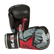 "Kickboxing Gloves TOP TEN ""Vikings"" Red 10 oz"