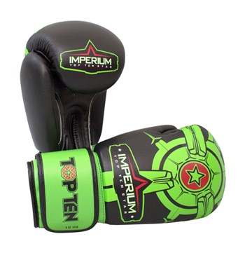 "Kickboxing Gloves TOP TEN ""Imperium"" Green 10 oz"