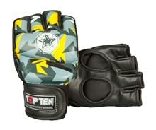 """MMA Gloves TOP TEN """"Jungle"""" Green"""