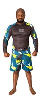 "Rash Guard MMA TOP TEN ""Jungle"" Yellow long sleeves"