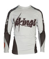 "Maglietta MMA TOP TEN Rash Guard ""Vikings"" Bianca manica lunga"