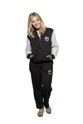 "TOP TEN Fitness Suit ""Coat of Arms"" Black/White"