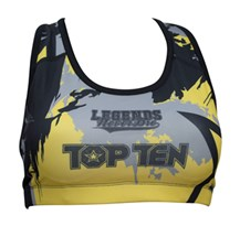 "SportBra TOP TEN ""Vikings"" Giallo"
