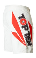 "Pantaloncini TOP TEN MMA ""Triangle"" Bianco/Nero"