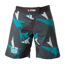 """TOP TEN MMA Shorts """"Jungle"""" Black/Blue"""
