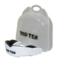 TOP TEN MouthGuard Adult Combat TPR White
