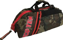 TOP TEN Sportbag/backpack combo SPORT BAG Camouflage Zip Red Small Customizable