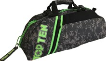 TOP TEN Sportbag/backpack combo SPORT BAG Camouflage Grey Zip Green Small Customizable