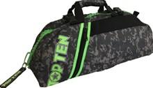 Borsa multifunzione zaino/tracolla TOP TEN SPORT BAG Mimetica Grigia Zip Verde Piccola Personalizzabile