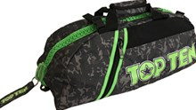 TOP TEN Sportbag/backpack combo SPORT BAG Camouflage Grey Zip Green Small