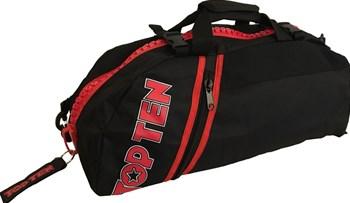 Borsa multifunzione zaino/tracolla TOP TEN SPORT BAG Zip Rossa Grande Personalizzabile