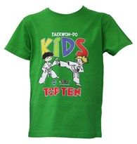 T-Shirt TOP TEN ITF Kids Green