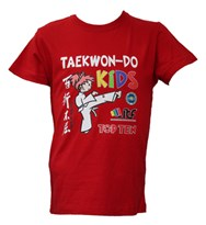 T-Shirt TOP TEN ITF Kids Red