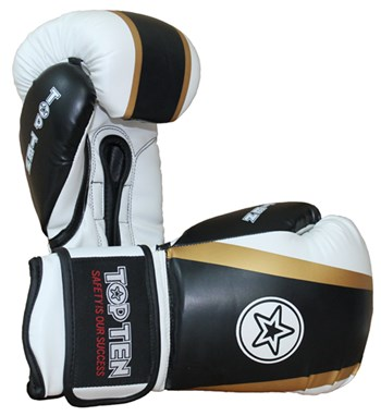 "Kickboxing Gloves TOP TEN ""Star & Stripes"" Black 10 oz"