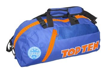 Borsa multifunzione zaino/tracolla TOP TEN SPORT BAG WAKO Blu/Arancione Piccola