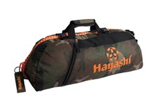 HAYASHI Sportbag/backpack combo SPORT BAG Camouflage/Orange Small