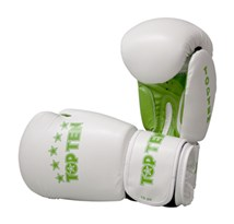 "Kickboxing Gloves TOP TEN ""R2M 2016"" White/Green 10 Oz"