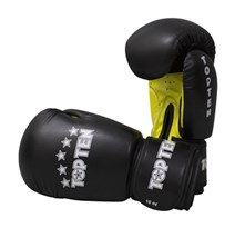"Kickboxing Gloves TOP TEN ""R2M 2016"" Black/Yellow 10 Oz"