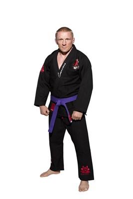"""Brazilian Jiu-Jitsu uniform TOP TEN """"Guerriero"""" Black"""