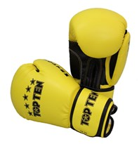 "Kickboxing Gloves TOP TEN ""R2M 2016"" Yellow/Black 10 Oz"