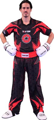 "Divisa Kickboxing TOP TEN ""Future"" Nero/Rosso"