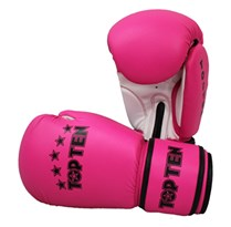 "Kickboxing Gloves TOP TEN ""R2M 2016"" Pink/Weiss 10 Oz"