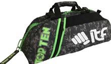 Borsa multifunzione zaino/tracolla TOP TEN SPORT BAG Mimetica Grigia Zip Verde Piccola ITF