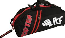 TOP TEN Sportbag/backpack combo SPORT BAG Zip Red Small ITF