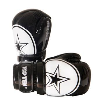 Glossy Block Red White Kick Boxing Pointfighter Top Ten Kickboxing Gloves