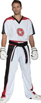 "Kickboxing Uniform TOP TEN ""STAR EDITION"" White/Black"