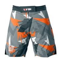 "TOP TEN MMA Shorts ""Jungle"" Black/Orange"