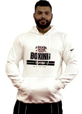 "Hooded Sweatshirt TOP TEN ""BOXING"" White"