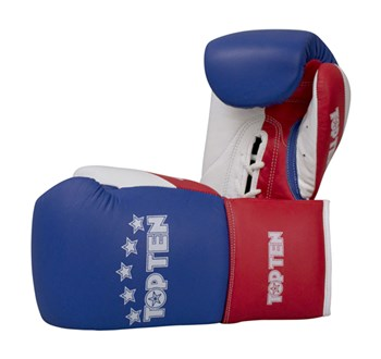 "Competition Gloves TOP TEN ""Professional"" Tricolor 8/10 oz"