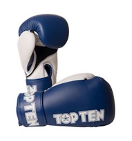 "Kickboxing Gloves TOP TEN ""XLP"" Blue 10/12/14/16 oz"