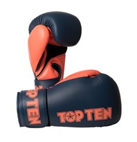 "Kickboxing Gloves TOP TEN ""XLP"" Gray/Orange 10/12/14/16 oz"