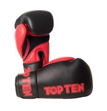 "Kickboxing Gloves TOP TEN ""XLP"" Black/Red 10/12/14/16 oz"