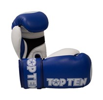 "Kickboxing Gloves TOP TEN XLP WAKO ""Star"" 10 Oz in leather Blue"