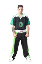"Kickboxing Uniform TOP TEN ""STAR EDITION"" Black/Green"