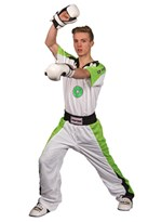 "Kickboxing Uniform TOP TEN ""STAR EDITION"" White/Green"