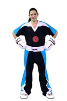 "Kickboxing Uniform TOP TEN ""STAR EDITION"" Black/Blue"