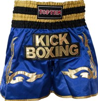 "Pantaloncini Kickboxing TOP TEN ""WAKO"" Blu"